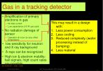 gas in a tracking detector