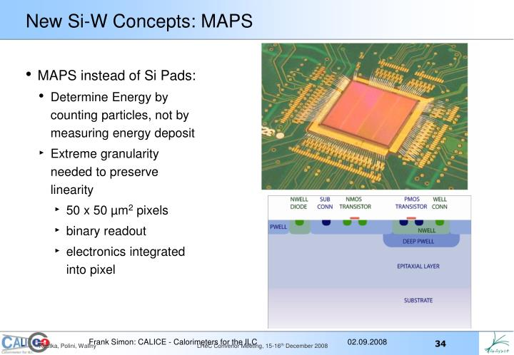 New Si-W Concepts: MAPS