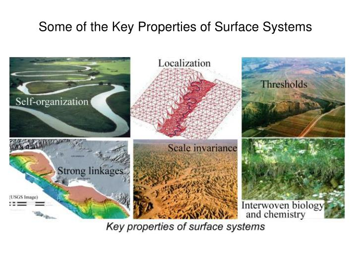 Some of the Key Properties of Surface Systems