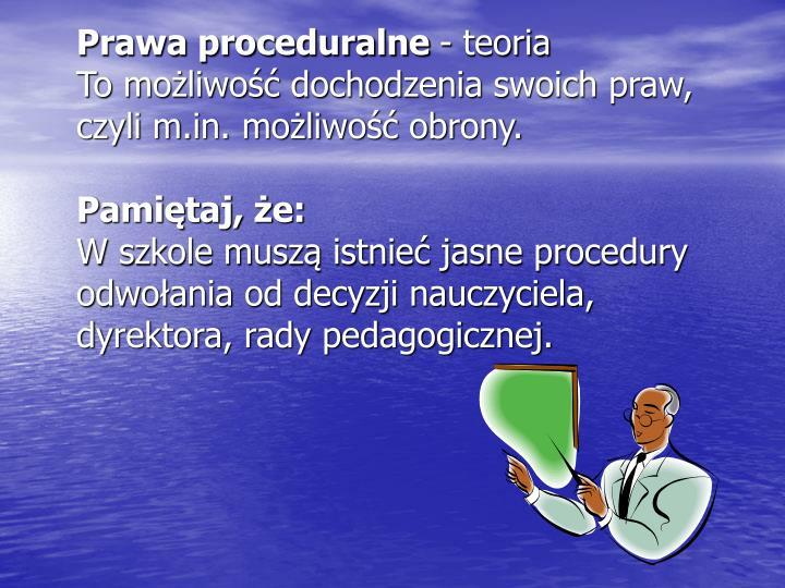 Prawa proceduralne