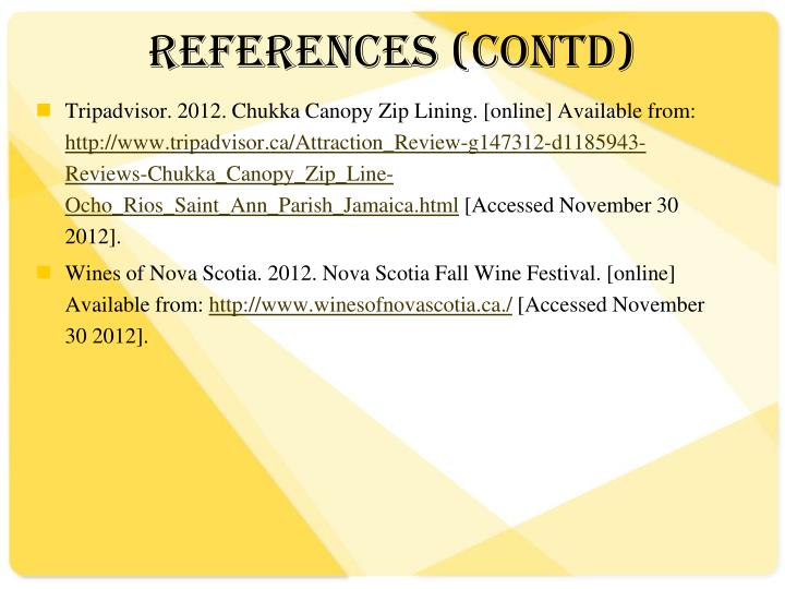 REFERENCES (CONTD)