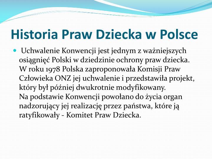 Historia Praw Dziecka w Polsce