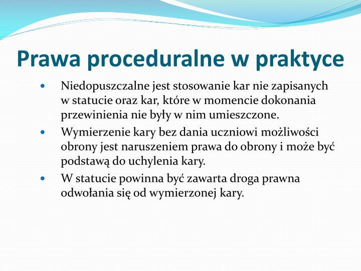Prawa proceduralne w praktyce