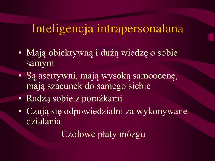 Inteligencja intrapersonalana