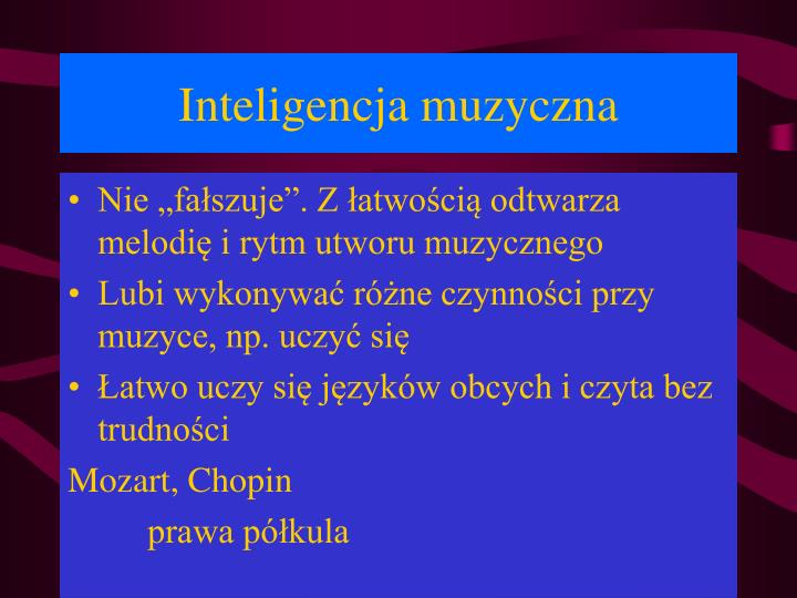 Inteligencja muzyczna