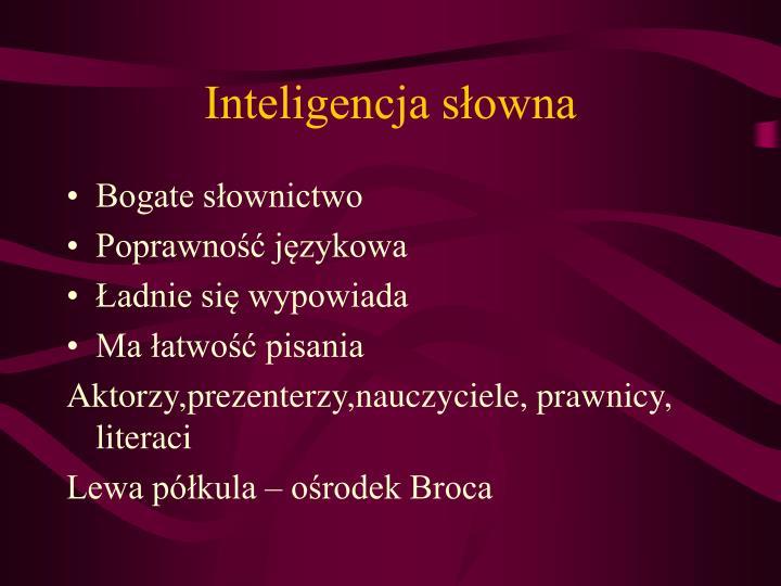 Inteligencja słowna