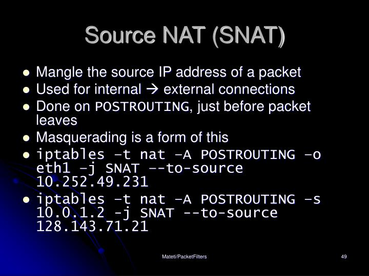 Source NAT (SNAT)