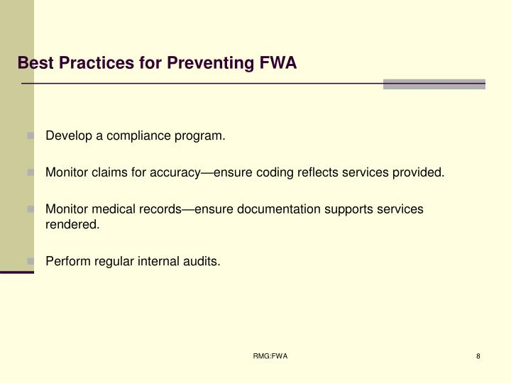 Best Practices for Preventing FWA