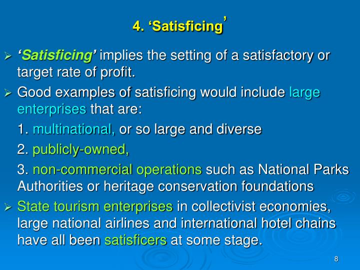 4. 'Satisficing