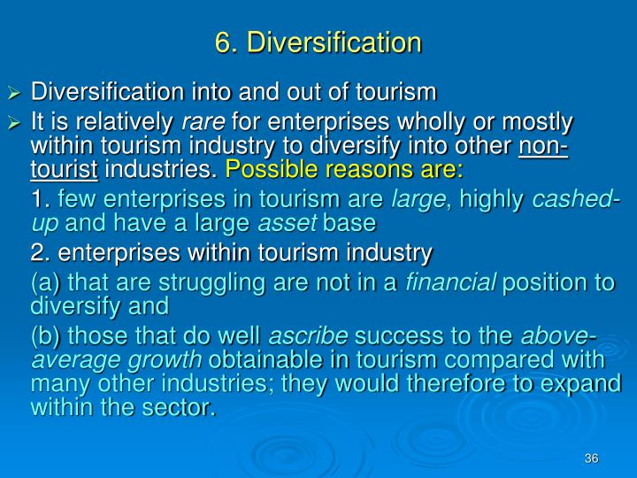 6. Diversification
