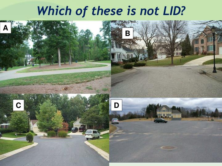 Which of these is not LID?