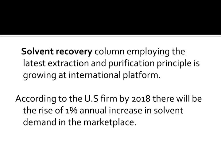 Solvent recovery