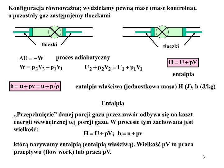 Konfiguracja równoważna; wydzielamy pewną masę (masę kontrolną),