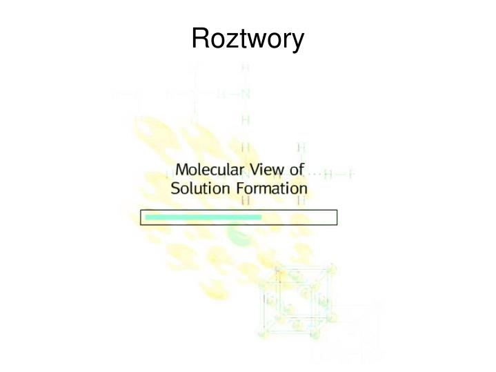 Roztwory