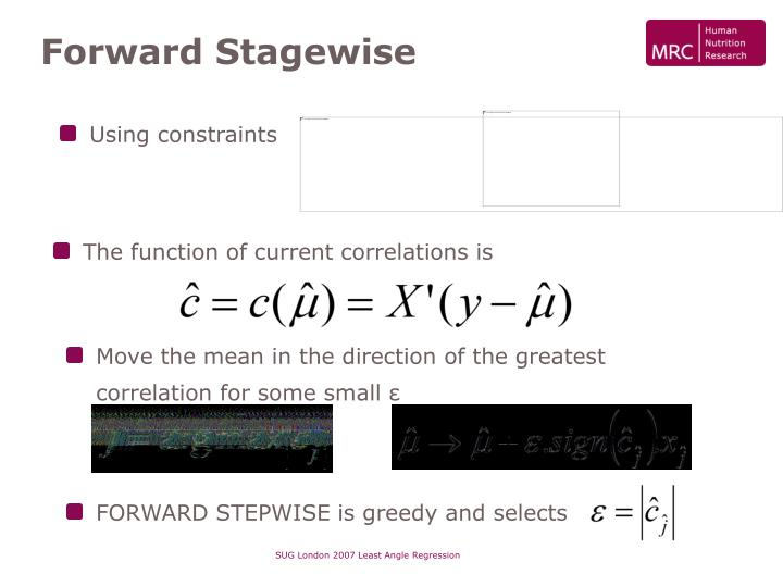 Forward Stagewise