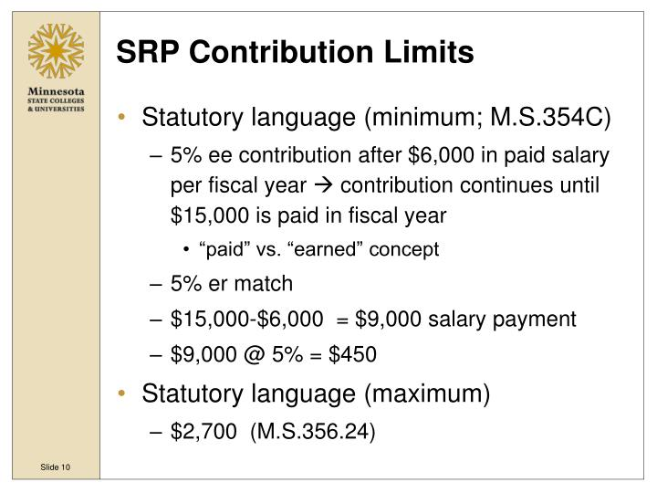SRP Contribution Limits