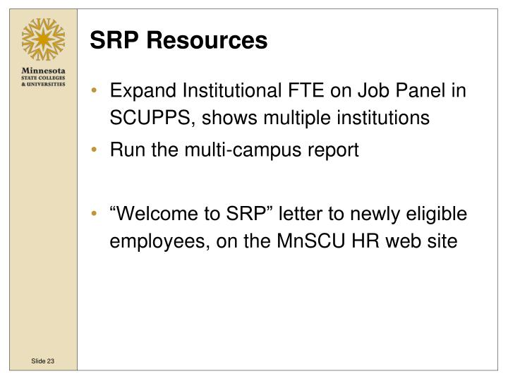 SRP Resources
