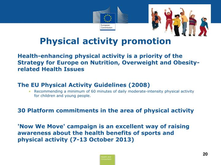 Physical activity promotion