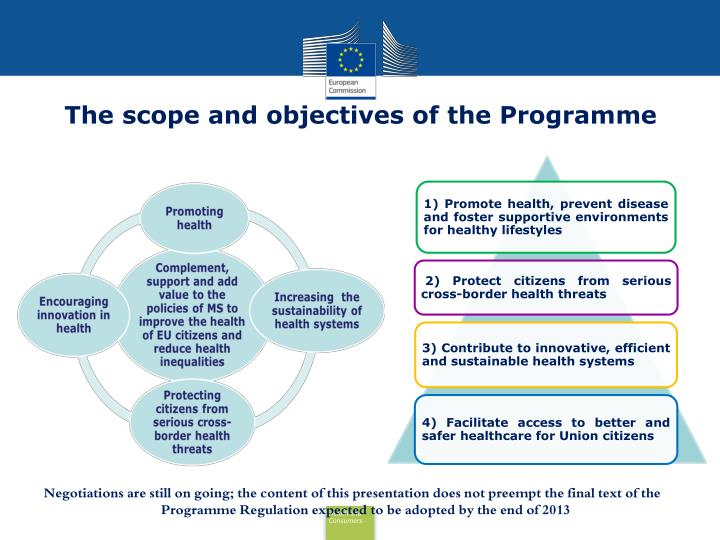 The scope and objectives of the Programme