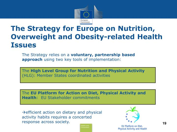 The Strategy for Europe on Nutrition,