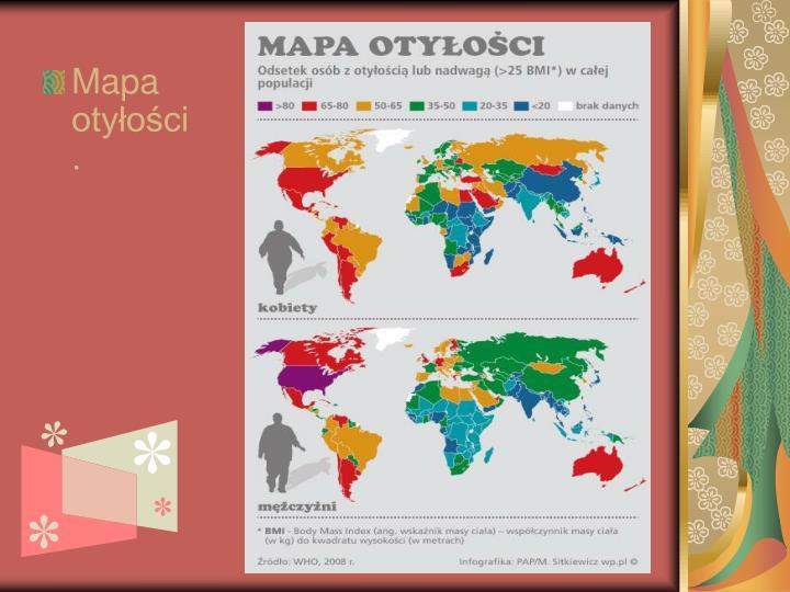 Mapa otyłości.