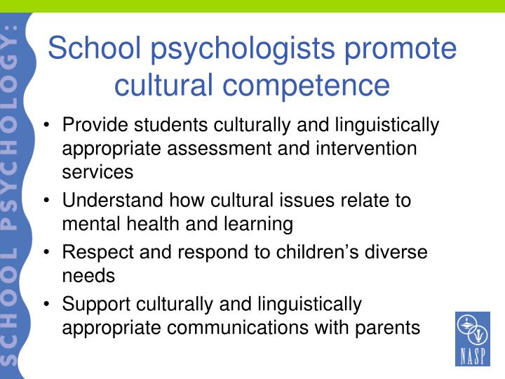 School psychologists promote cultural competence