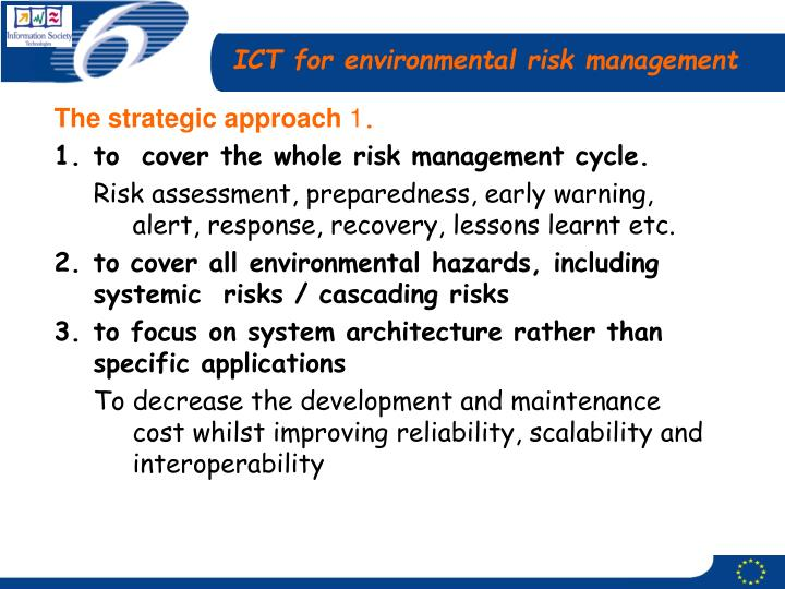 ICT for environmental risk management