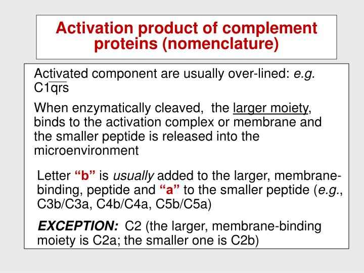 Activated component are usually over-lined: