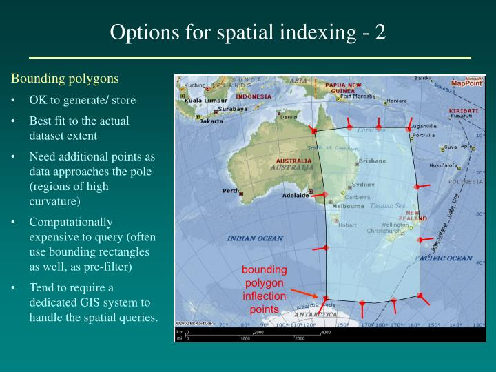 Options for spatial indexing - 2