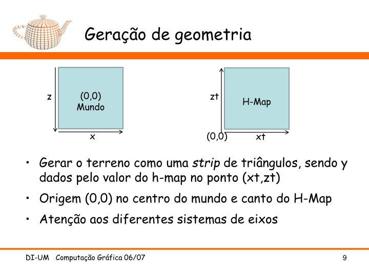 Geração de geometria