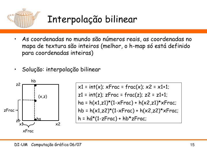 Interpolação bilinear