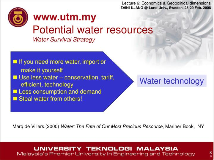 Potential water resources
