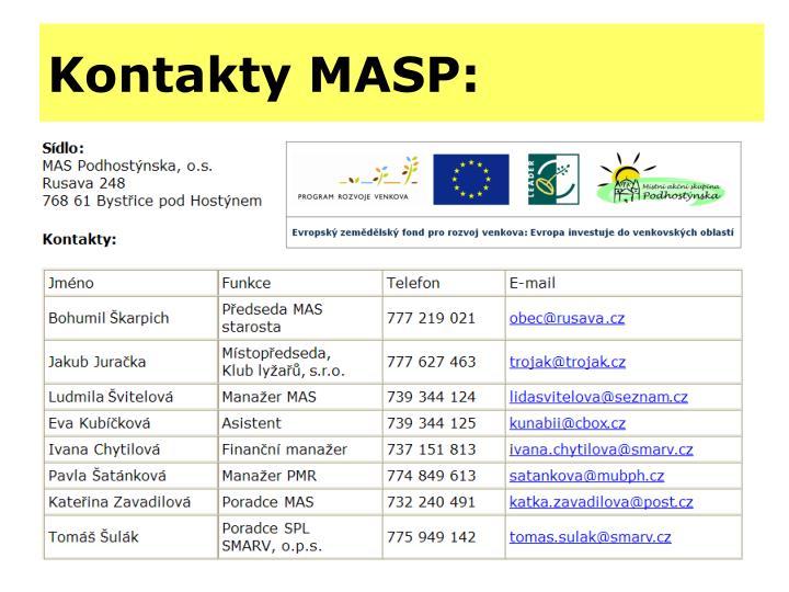 Kontakty MASP:
