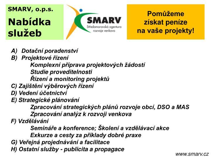 SMARV, o.p.s.