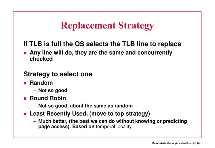Replacement Strategy