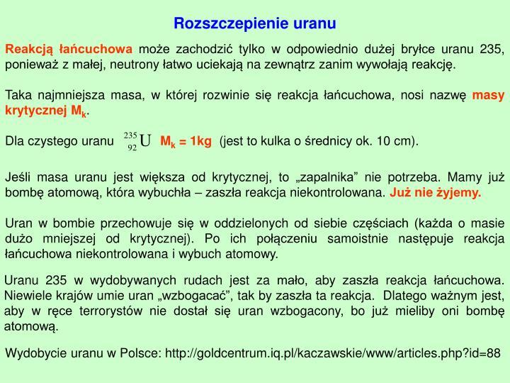 Rozszczepienie uranu