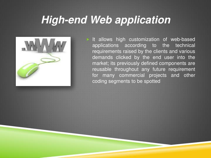 High-end Web application