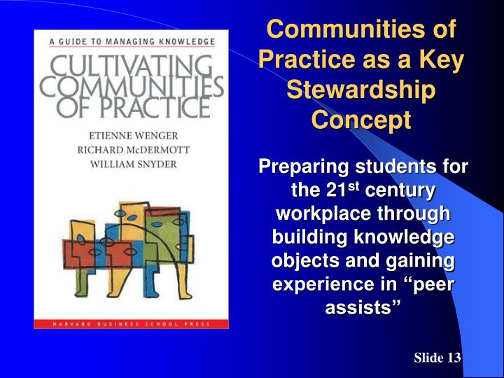 Communities of Practice as a Key Stewardship Concept