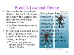 boyle s law and diving