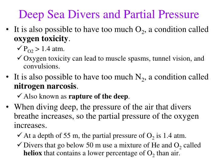 Deep Sea Divers and Partial Pressure