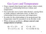 gas laws and temperature