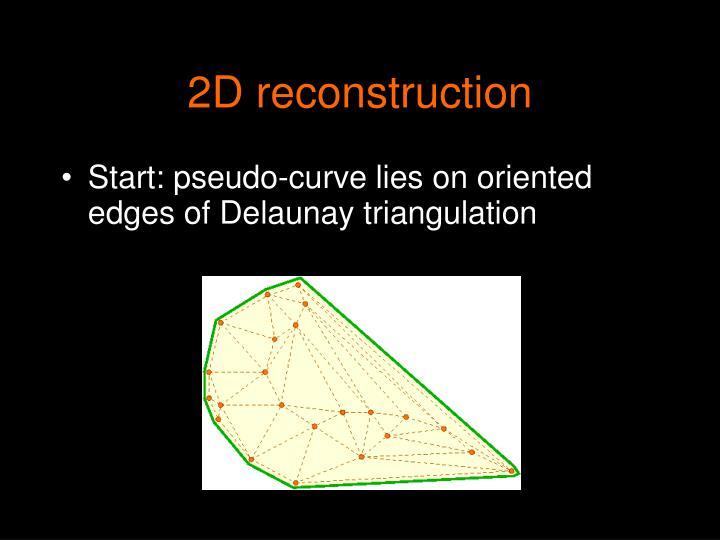 2D reconstruction