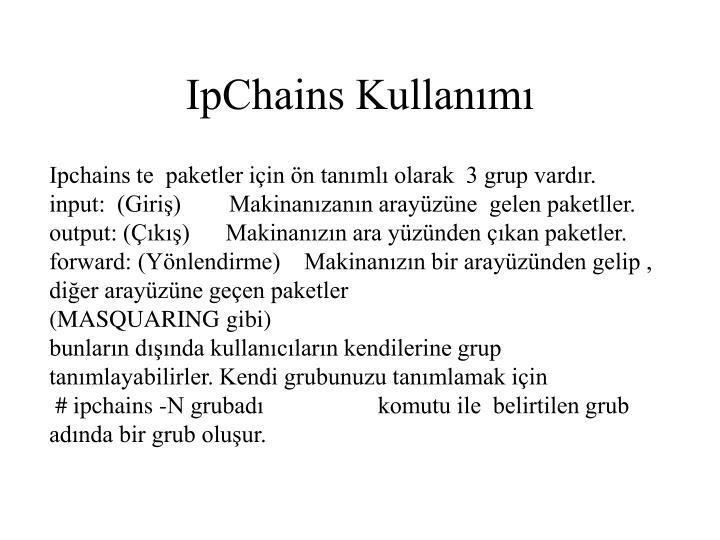 IpChains Kullanımı