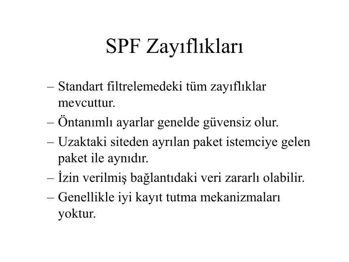 SPF Zayıflıkları