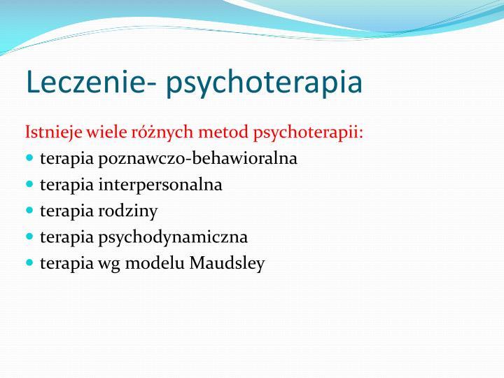 Leczenie- psychoterapia