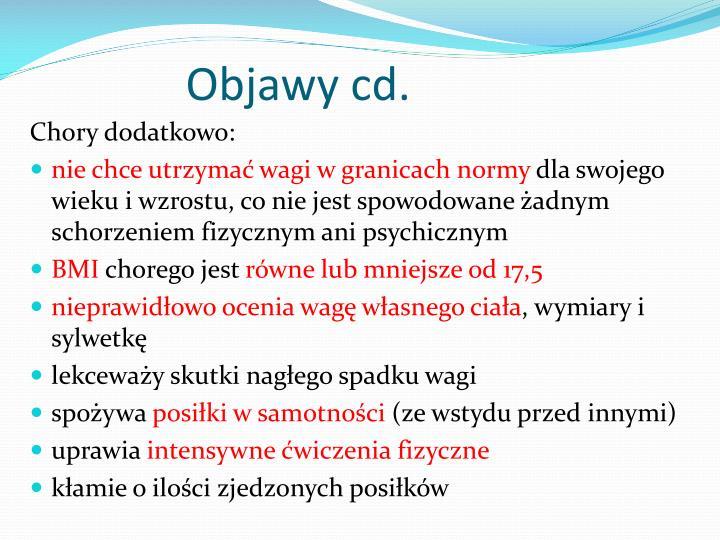 Objawy cd.