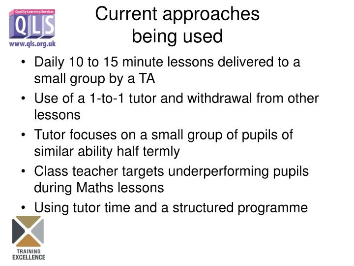 Daily 10 to 15 minute lessons delivered to a small group by a TA