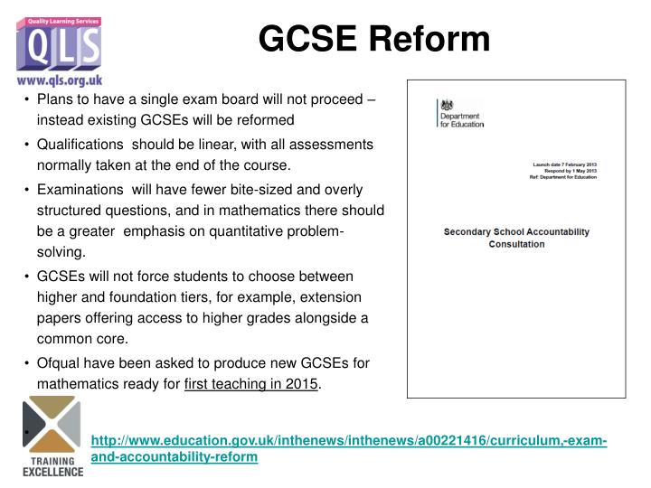 Plans to have a single exam board will not proceed – instead existing GCSEs will be reformed