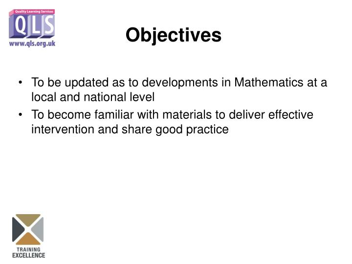 To be updated as to developments in Mathematics at a local and national level