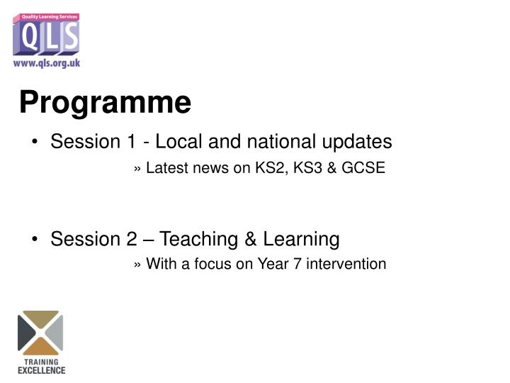 Session 1 - Local and national updates